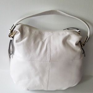 Tignanello white leather bag